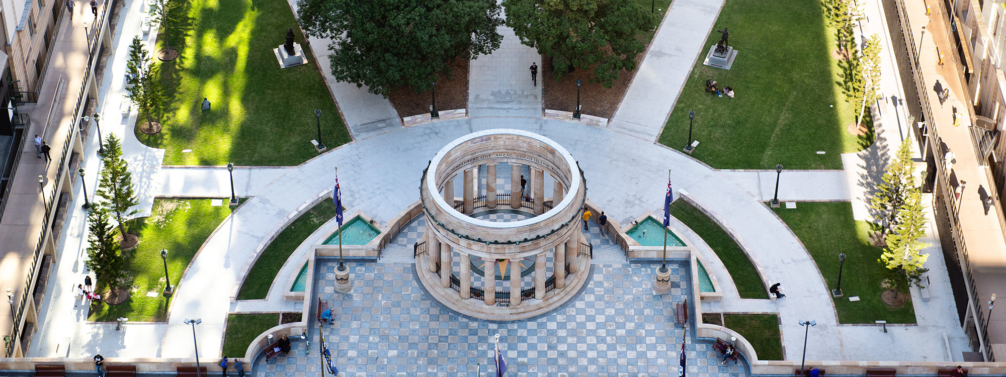 Anzac Square Aerial View
