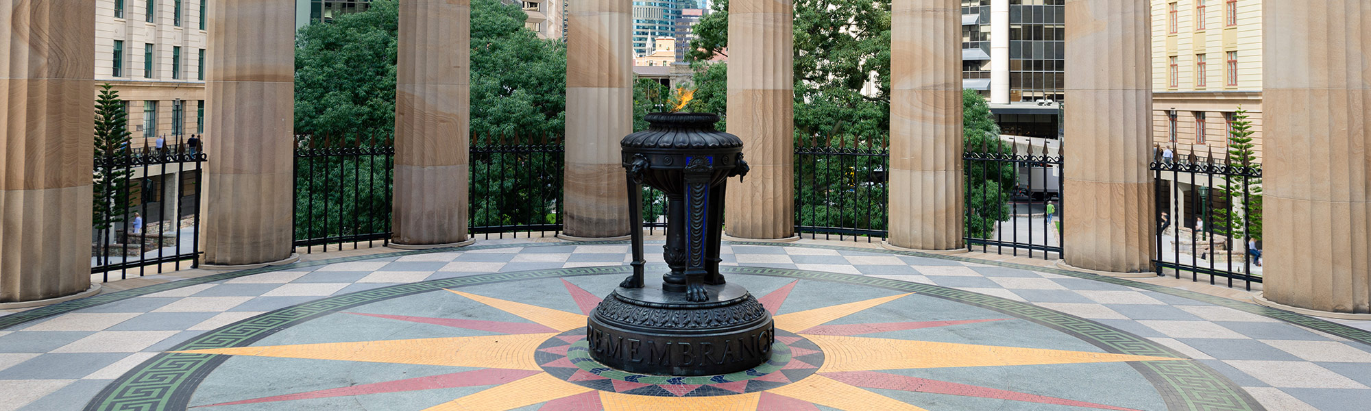 Eternal Flame at Anzac Square Brisbane City