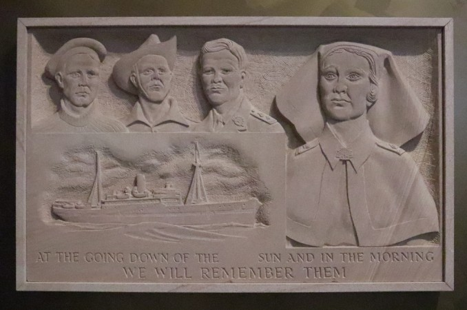 Centaur Memorial Fund for Nurses (Sculpture) plaque