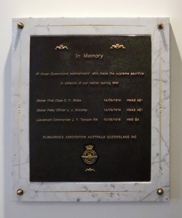 Submariners Association Australia (Queensland) plaque