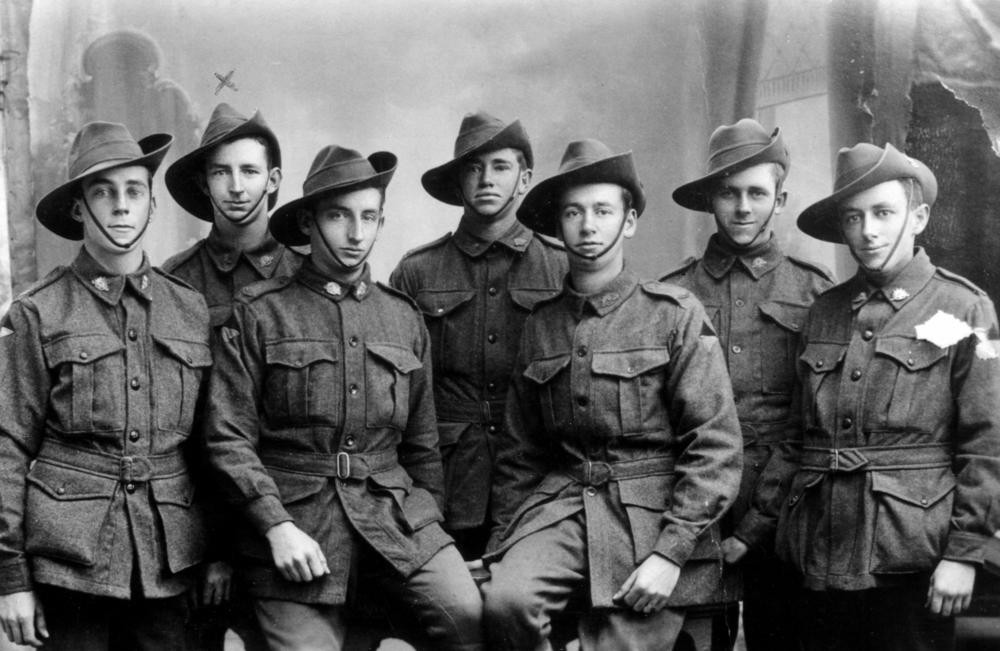 Australian soldiers from World War I