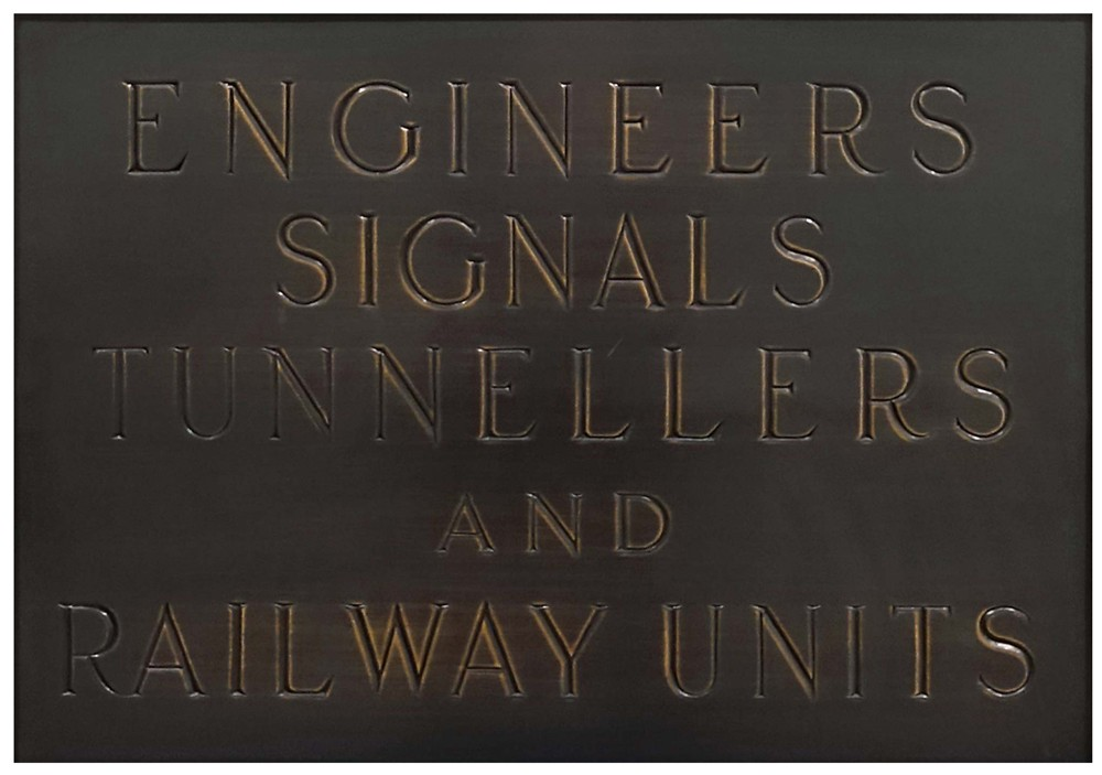 Engineers, Signals, Tunnellers & Railway Units (plaque)
