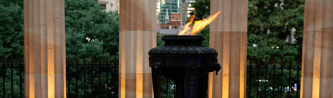 Eternal flame at Anzac Square