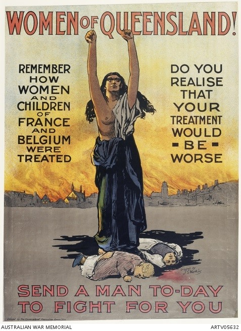 Women of Queensland!: Send a man today to fight for you poster